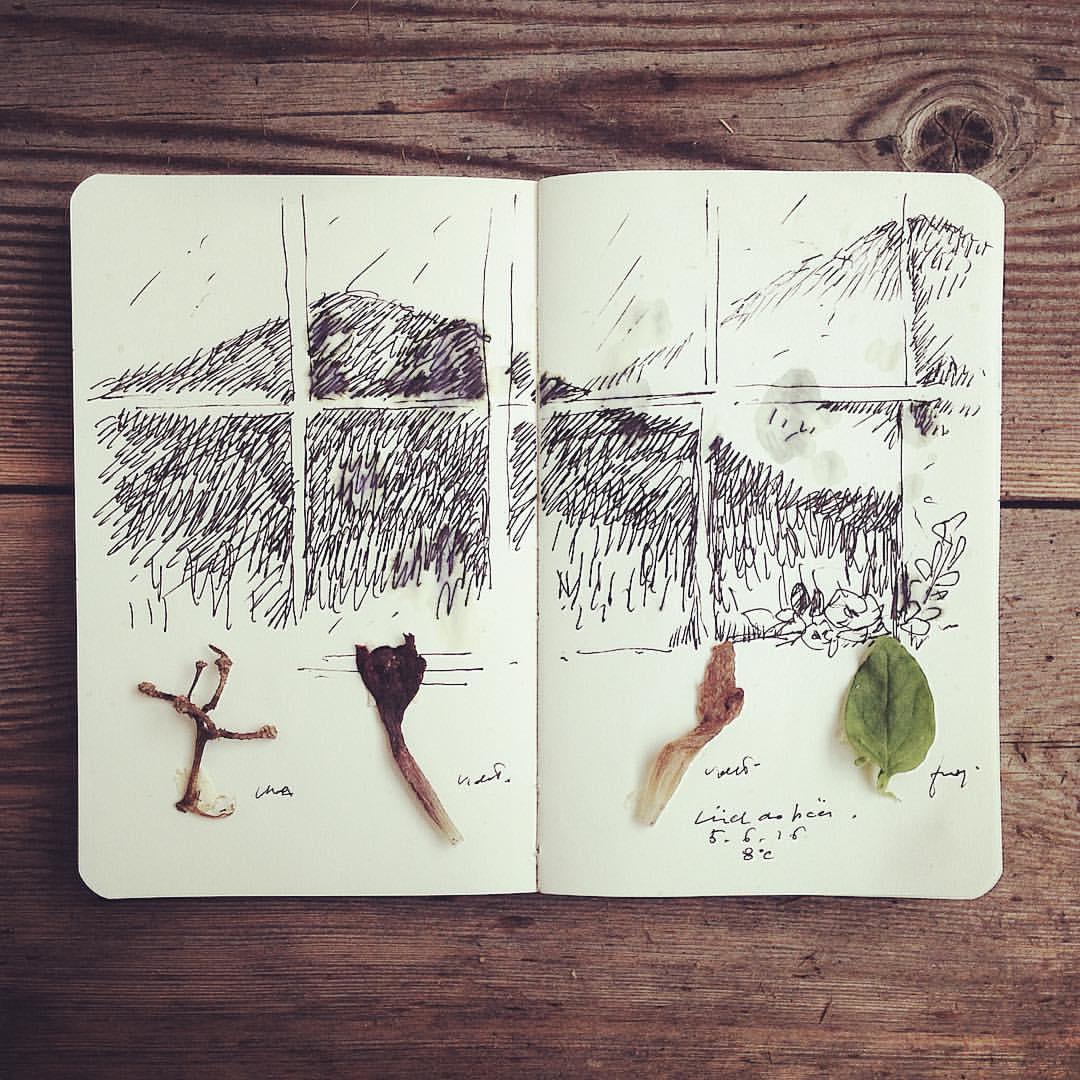Appunti di viaggio III #rain #luchdapcei #sancassiano #dolomiti #altabadia #2016 #moleskine
