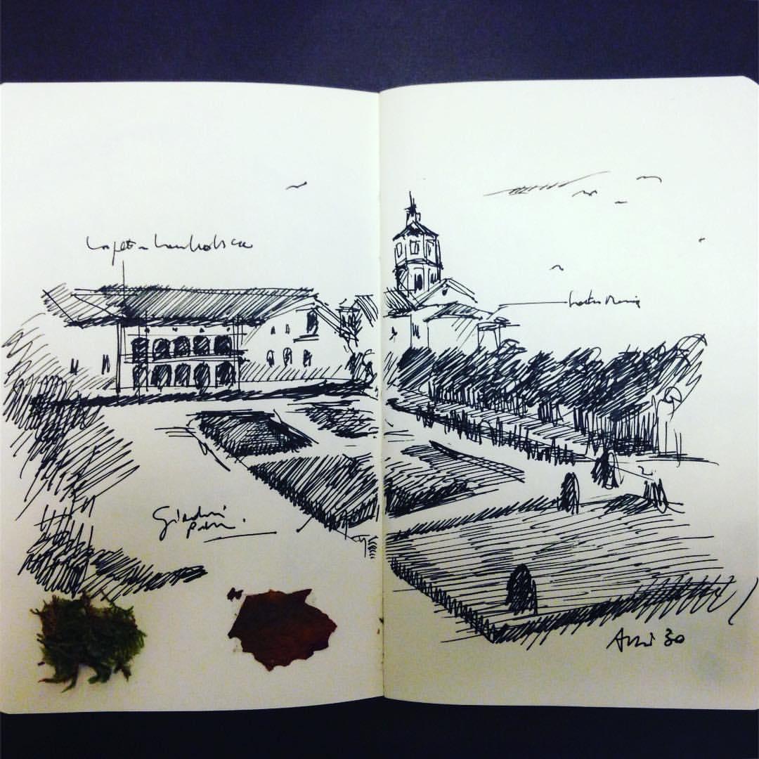 #Ravenna giardini pubblici anni 30 #moleskine #appunti