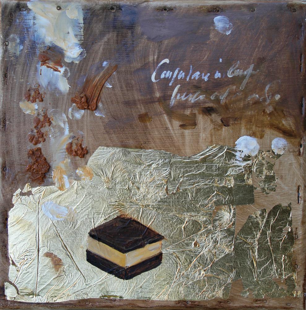 Cremino, olio e tecnica mista su lamiera, 20x20 cm, 2010, <br>Collezione Privata