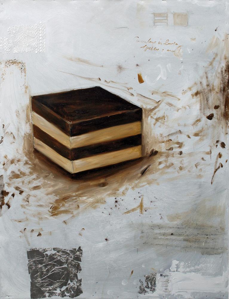 Cremino Majani, olio e tecnica mista su lamiera, 50x70 cm, 2011.