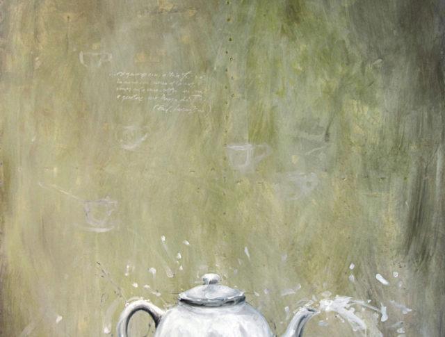 Teiera, olio su lamiera, 100x150 cm. 2011 - Collezione Privata