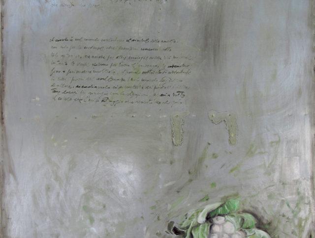 Cavolo, olio su lamiera, 100x150 cm. 2012