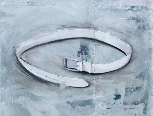 Cintura, olio su lamiera, 65x65 cm. 2004 - Collezione Privata Ravenna