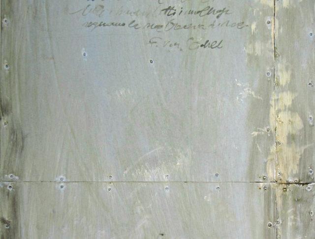 Mela, olio su lamiera, 20x60 cm. 2012