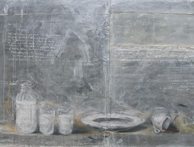 Il respiro della notte, olio su lamiera, 65x140 cm. 2004 - Collezione Privata (Cotignola)