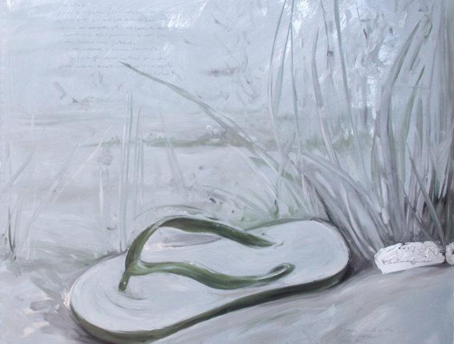 Fine estate, olio su lamiera, 100x100 cm. 2006 - Collezione Privata (Ravenna)