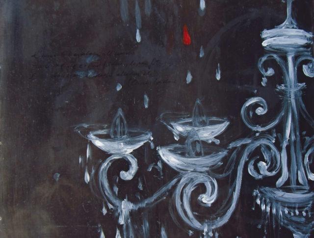 Sogno rarefatto - 50x60 cm - 2014 - Olio su lamiera