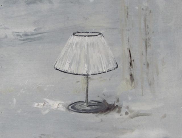 Il sonno dell'impiegato - 40x40 cm - 2013 - Olio su lamiera