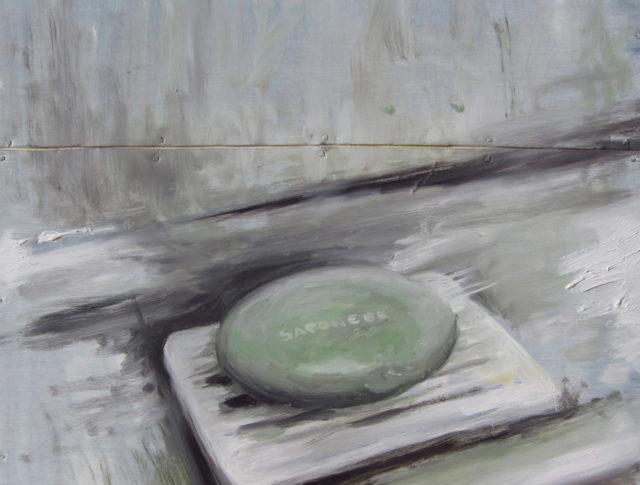Ore 7 - 30x30 cm - 2014 - Olio su lamiera  (Collezioni privata)