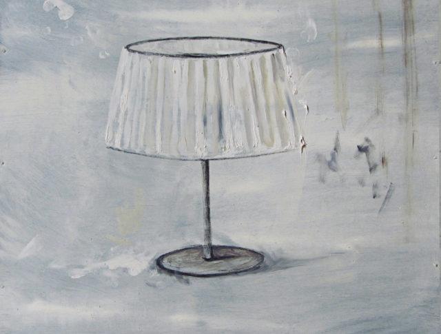Il sonno dell'intellettuale - 40x40 cm - 2013 - Olio su lamiera