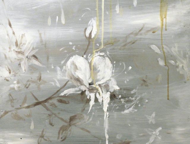 Rosae I, olio su lamiera, 40x40cm - 2014